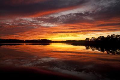 Sunset over a Chesapeake Bay Shoreline-Skip Brown-Photographic Print