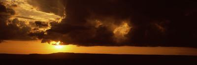 Sunset over a Landscape, Masai Mara National Reserve, Kenya--Photographic Print