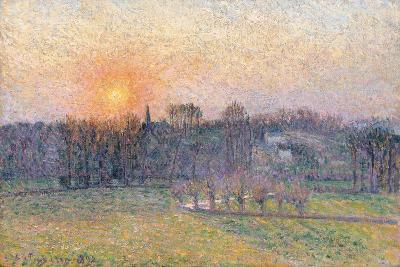 Sunset over a Landscape with Trees, 1892-Canaletto-Giclee Print