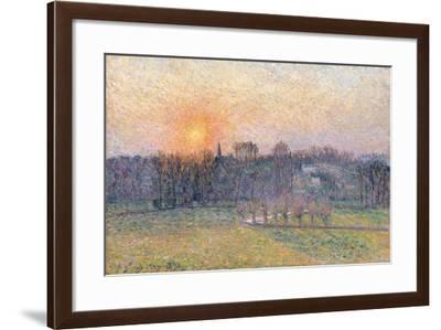 Sunset over a Landscape with Trees, 1892-Canaletto-Framed Giclee Print