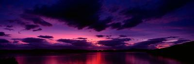 Sunset over an Island Viewed from Applecross Peninsula, Isle of Skye, Inner Hebrides, Hebrides, ...--Photographic Print