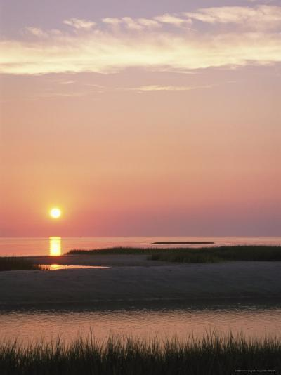 Sunset Over and Reflecting in the Atlantic Ocean-Darlyne A^ Murawski-Photographic Print