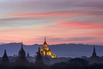 Sunset over Bagan-Jon Hicks-Photographic Print
