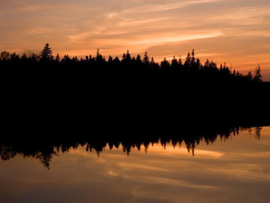 Sunset over Bass Harbor Marsh, Acadia National Park, Maine, USA-Jerry & Marcy Monkman-Photographic Print