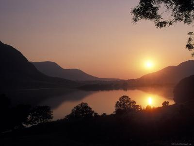 Sunset over Bassenthwaite Lake in the Lake District in England-Richard Nowitz-Photographic Print