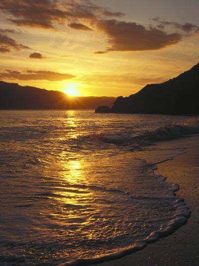 Sunset Over Beach, Angel Island, CA-Steven Baratz-Photographic Print