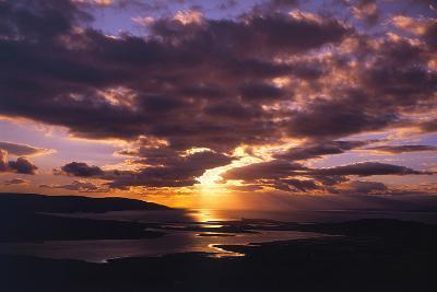 Sunset over Black Head Bay, County Mayo, Ireland-Chris Hill-Photographic Print
