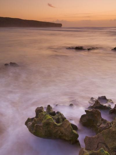 Sunset over Blurred Milky Water, Amoreira Beach Near Alzejur, Algarve, Portugal, Europe-Neale Clarke-Photographic Print