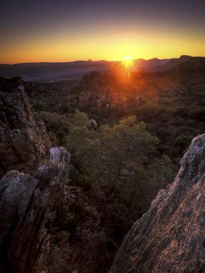 Sunset over Cederberg Wilderness Area, South Africa-Keith Ladzinski-Photographic Print