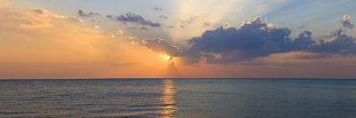 Sunset over Gulf of Mexico from Venice, Sarasota County, Florida, USA--Photographic Print