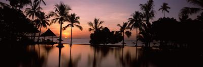 Sunset over Hotel Pool, Lombok, West Nusa Tenggara, Indonesia--Photographic Print