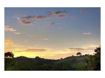 Sunset over Jungle Clearing-Nish Nalbandian-Art Print