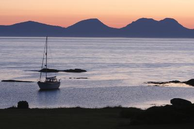 Sunset over Jura Seen from Kintyre, Argyll and Bute, Scotland-Peter Thompson-Photographic Print