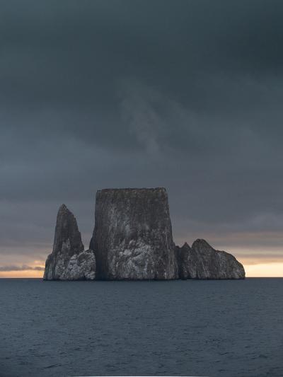 Sunset over Kicker Rock or Leon Dormido Part of the Galapagos Islands, Ecuador-Jeff Mauritzen-Photographic Print