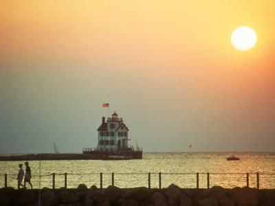 Sunset Over Lake Erie, OH-Jeff Greenberg-Photographic Print