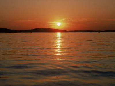 Sunset Over Lake Lanier, GA-Mark Gibson-Photographic Print