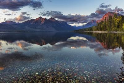 Sunset over Lake Mcdonald in Glacier National Park, Montana, Usa-Chuck Haney-Photographic Print