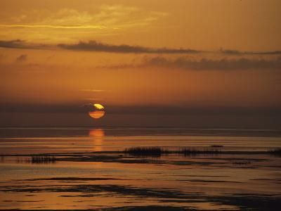 Sunset over Lake Okeechobee-Medford Taylor-Photographic Print