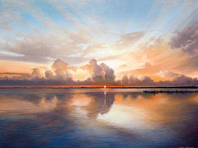 Sunset over Lake-Bruce Nawrocke-Premium Giclee Print