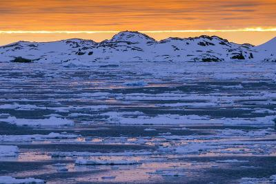 Sunset over Lemaire Channel on the Antarctic Peninsula-Rich Reid-Photographic Print