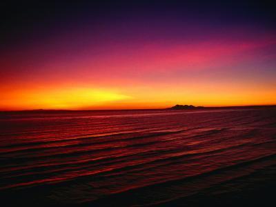 Sunset Over Mar De Cortes, Sea of Cortez, Mexico-Peter Ptschelinzew-Photographic Print