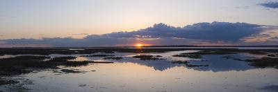 Sunset over Marshes of Chichester Harbour on a Very Still Evening, West Sussex, England, UK, Europe-Giles Bracher-Photographic Print