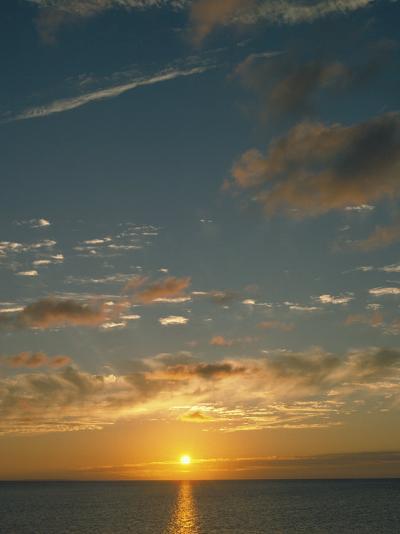 Sunset Over Ocean, HI-Steven Baratz-Photographic Print