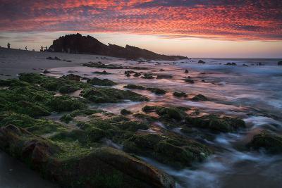 Sunset over Pedra Furada Rock Formation in Jericoacoara, Brazil-Alex Saberi-Photographic Print