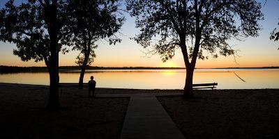 Sunset over Pomona Reservoir at Pomona State Park, Vassar, Osage County, Kansas, Usa--Photographic Print