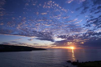 Sunset over Porthmeor Beach in St. Ives, Cornwall, England, United Kingdom, Europe-Peter Barritt-Photographic Print