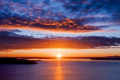 Sunset over Puget Sound, Seattle-kwest19-Photographic Print