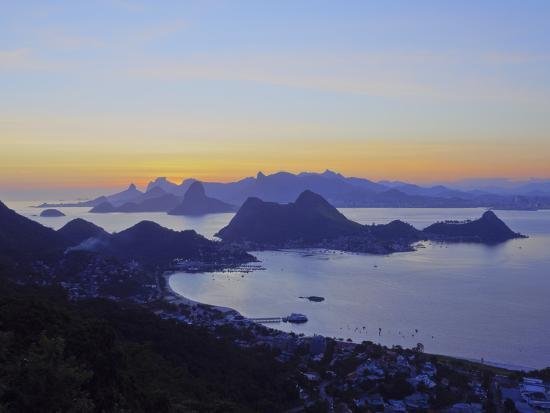 d3014bd76 Sunset over Rio de Janeiro viewed from Parque da Cidade in Niteroi, Rio de  Janeiro, Brazil, South A Photographic Print by Karol Kozlowski | Art.com