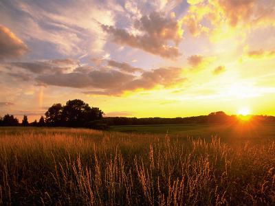 Sunset Over Salt Marsh, Essex, MA-Kindra Clineff-Photographic Print