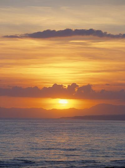 Sunset Over Sea, Costa Del Sol, Andalucia (Andalusia), Spain, Mediterranean-Michael Busselle-Photographic Print