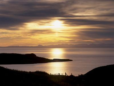 Sunset over Sleat Peninsula and Loch Eishort, Near Ord, Isle of Skye, Inner Hebrides, Scotland, UK-Patrick Dieudonne-Photographic Print
