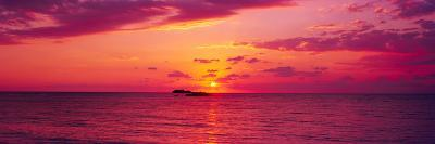 Sunset over The, Atlantic Ocean, Cat Island, Bahamas--Photographic Print