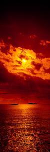 Sunset over the Atlantic Ocean, Cat Island, Bahamas