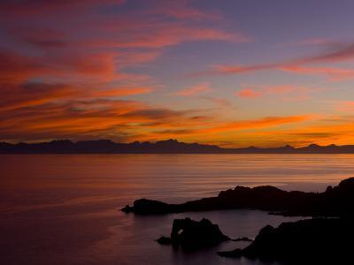 Sunset over the Baja Peninsula, Seen from Catalina Island-Ralph Lee Hopkins-Photographic Print