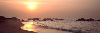 Sunset over the Beach, Brignogan, Finistere, Brittany, France--Photographic Print