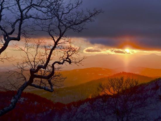 Sunset over the Blue Ridge Mountains-Amy & Al White & Petteway-Photographic Print