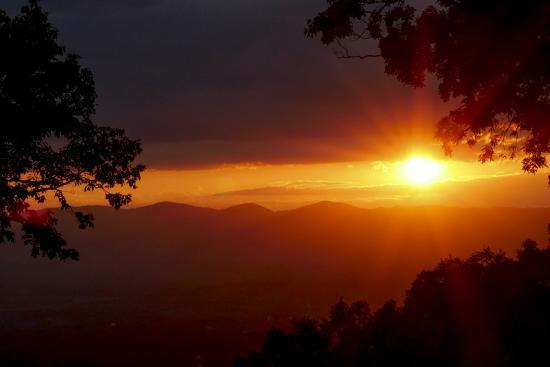 Sunset over the Blue Ridge Mountains-Amy, Al White, Petteway-Photographic Print