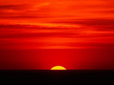 Sunset Over the Gulf of Mexico, Florida, USA-Charles Sleicher-Photographic Print