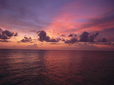 Sunset over the Gulf of Mexico-Paul Damien-Photographic Print