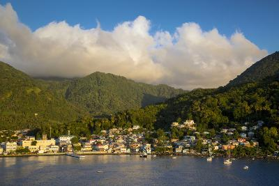 Sunset over the Hills Surrounding Soufriere, St. Lucia, West Indies-Brian Jannsen-Photographic Print