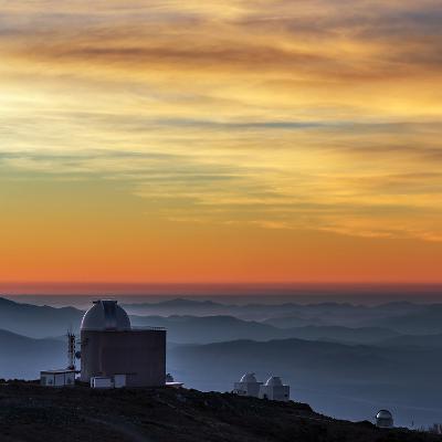 Sunset over the La Silla Observatory and Inversion Layers-Babak Tafreshi-Photographic Print