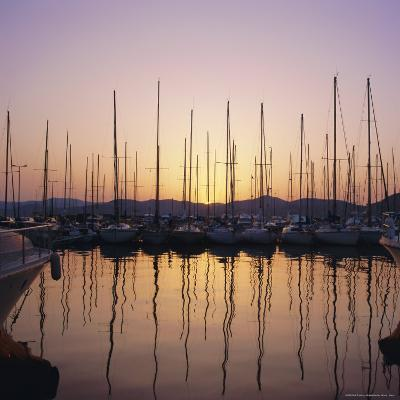 Sunset Over the Marina, St. Tropez, Cote d'Azur, Var, Provence, France, Europe-Ruth Tomlinson-Photographic Print