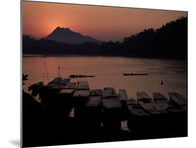 Sunset over the Mekong River, Luang Prabang, Laos, Indochina, Southeast Asia-Mcconnell Andrew-Mounted Photographic Print