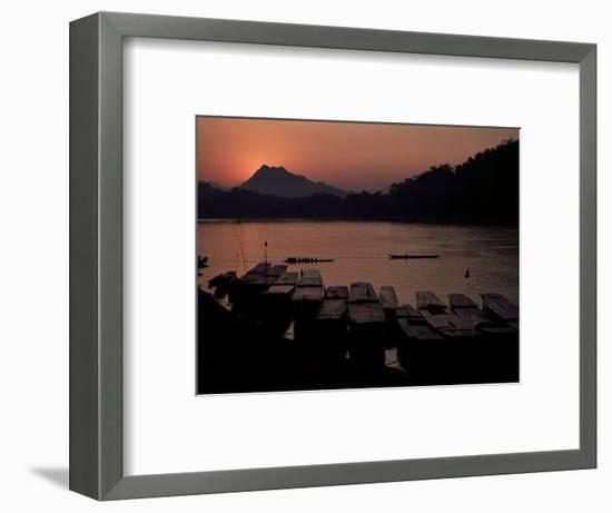 Sunset over the Mekong River, Luang Prabang, Laos, Indochina, Southeast Asia-Mcconnell Andrew-Framed Photographic Print