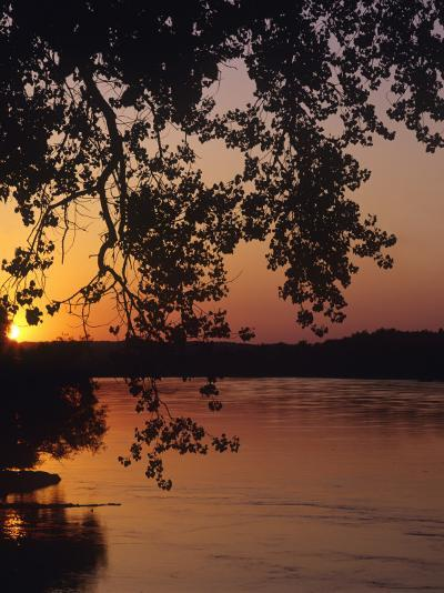 Sunset over the Missouri at Indian Cave State Park, Nebraska, USA-Chuck Haney-Photographic Print