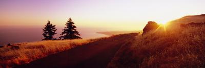 Sunset over the Mountain, Mt Tamalpais, Marin County, California, USA--Photographic Print